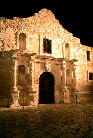 The Alamo at night, San Antonio