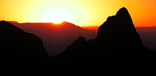 Big Bend National Park sunset, Chisos Mountains, Texas