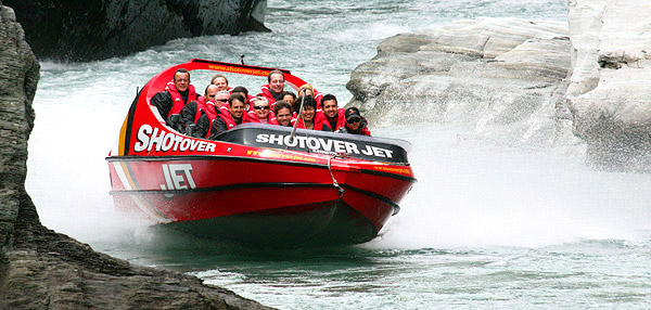 Shotover River jet boat, South Island, New Zealand photo tour image